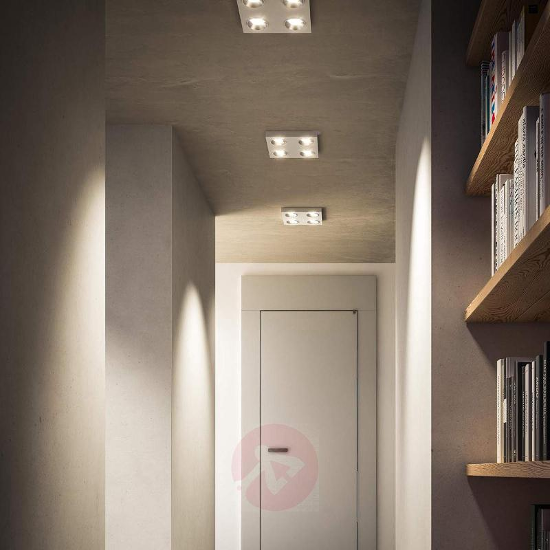White angular LED ceiling light Quine - Ceiling Lights