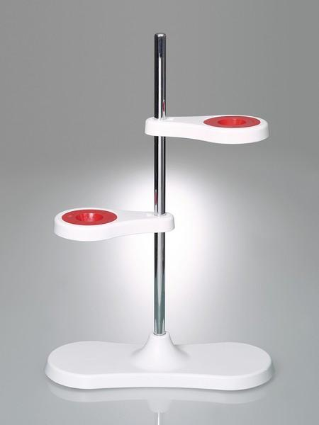 Funnel stand - Laboratory equipment, for two or four funnels, innovative magnet concept