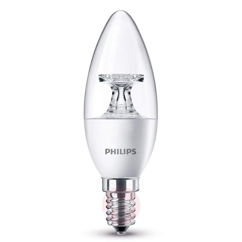 E14 5.5 W 827 LED candle light bulb, clear - light-bulbs
