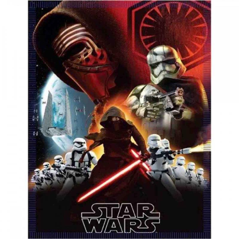 10x Plaids polaires Star Wars 140x100 - Linge de maison