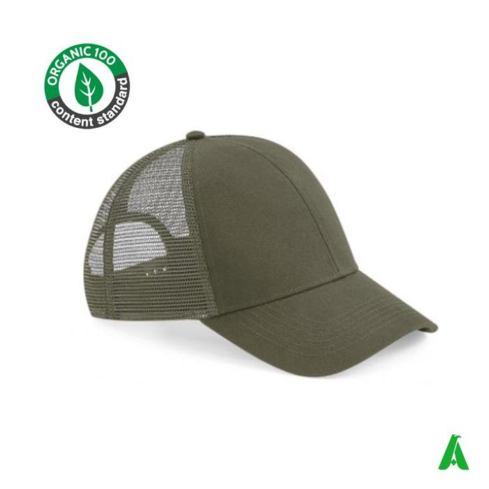 Cappello in cotone organico Trcuker - Cappello ecologico in cotone oganico