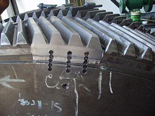 Fracture repair of power equipment