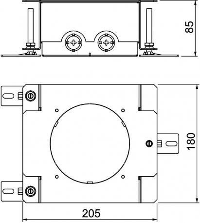 Adjustable screed box for the installation socket GES R2 - Adjustable screed box for the installation socket GES R2