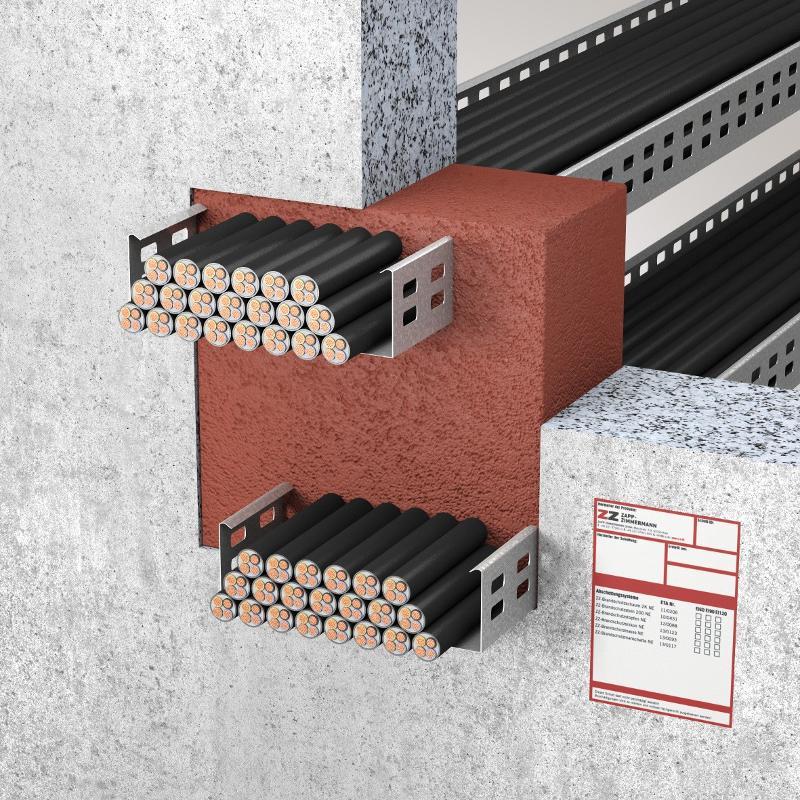 Abschottungssysteme Kombiabschottung - System ZZ-Brandschutzschaum 2K NE