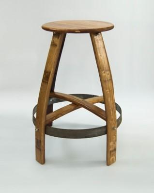 New Wine Barrel Type Bar Chairs - Manufacture Out Of French Oak