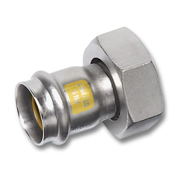 NiroSan® Gas, Halbe Verschraubung - NiroSan® Gas Halbe Verschraubung, flachdichtend mit Centellen-Dichtung