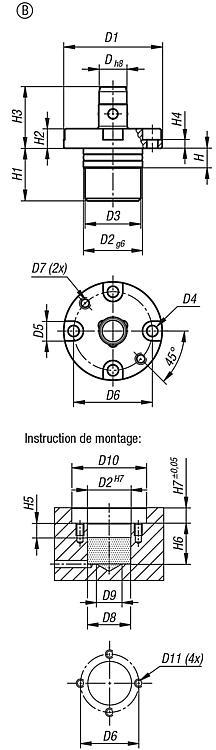 Broche de positionnement pneumatique - BALL lock