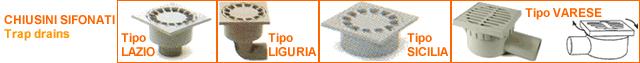 Chiusini sifonati - materiale : polipropilene