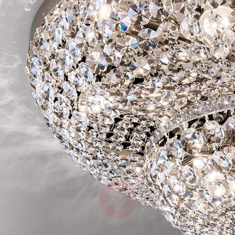 Magnificent crystalceiling lamp Sheraton chrome - design-hotel-lighting