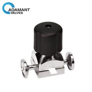 Sanitary Mini Diaphragm Valves - Sanitary Mini Diaphragm Valves with Tri-clamp Ends, Manual Type