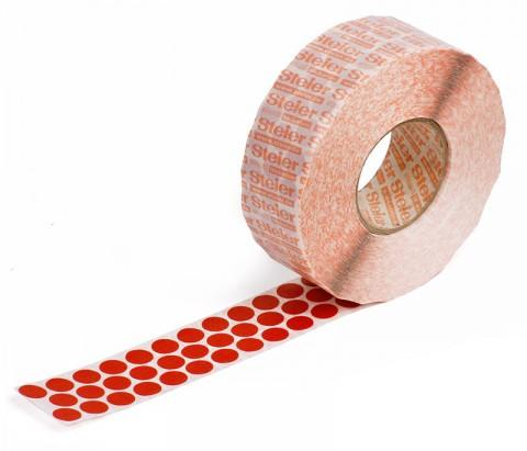 red self-adhesive fabric marking dots 12 mm - coloured fabric, Steierform 87-67401