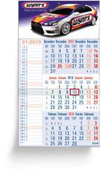3 Months calendars - 3 Months Memo blue