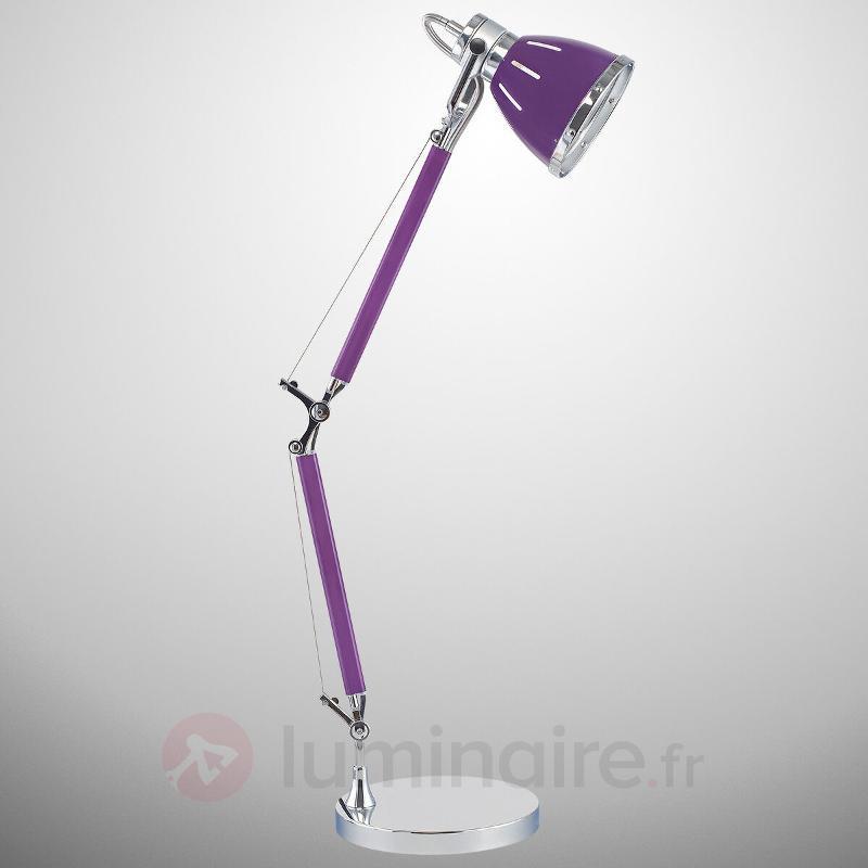 Lampe de bureau Jerona, violet - Lampes de bureau