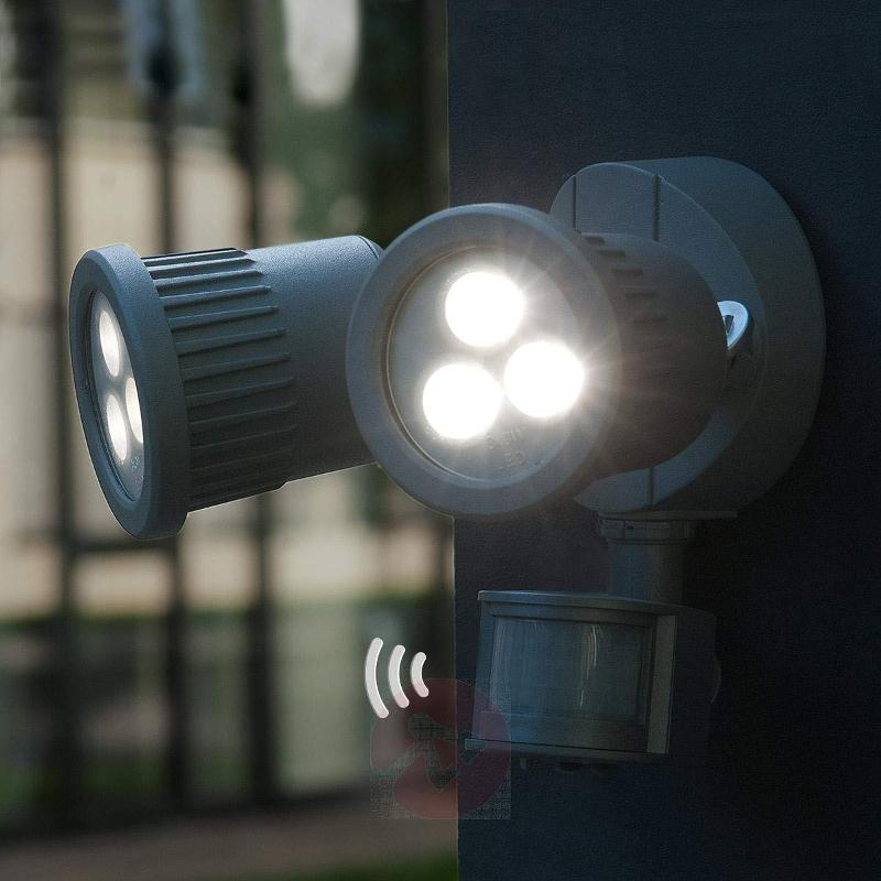 Tumbler LED exterior wall light with MD - Wall Lights with Motion Sensor