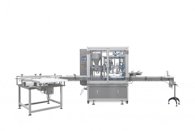 BaCo2400-vollautomatische Siegelanlage - BaCo2400 - vollautom. Füll-, Folienauflege- und Siegelanlage mit Verschrauber