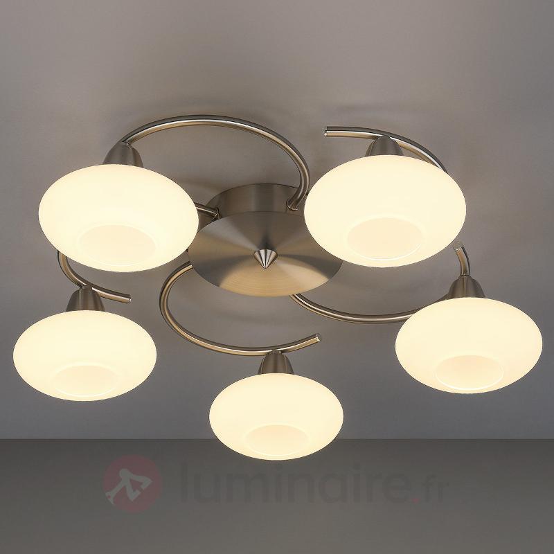 Esthétique plafonnier LED Espen, nickel mat - Plafonniers LED