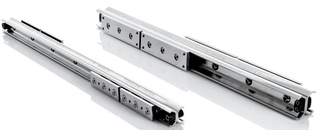 Telerace - Telescopic guides with ball bearings