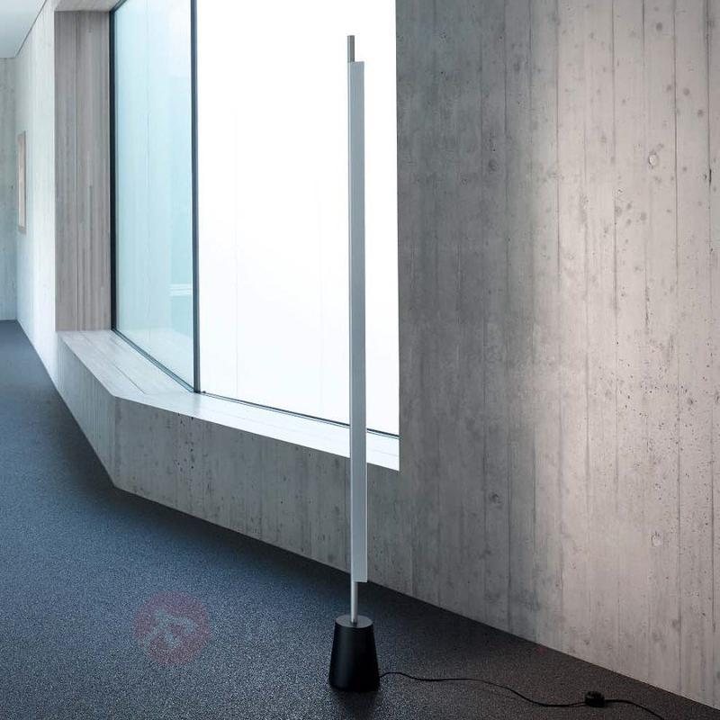 Lampadaire LED Compendium couleur alu - Lampadaires LED