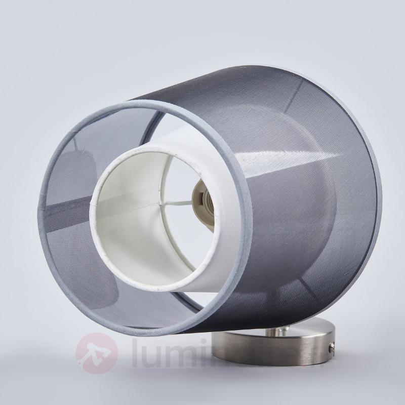 Applique en tissu noir Weni avec interrupteur - Appliques en tissu
