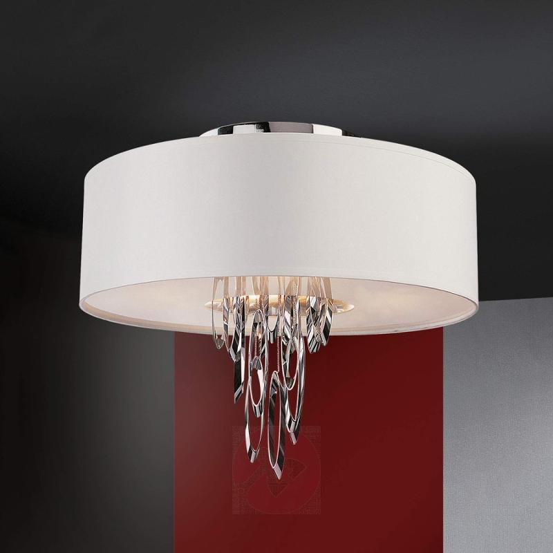 Elegant fabric ceiling light Domo - design-hotel-lighting