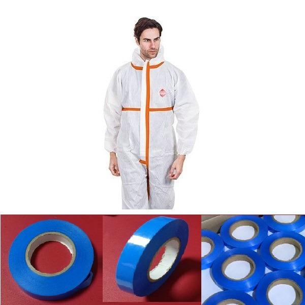 heat pressure adhesive tapes for thr protection gown - heat and cold self adhesive tapes, blue color