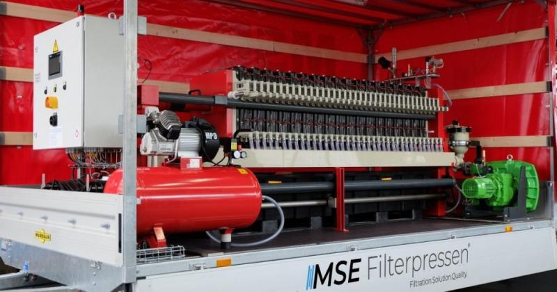 Mobile filter press - The mobile filter press - complete system for uncomplicated drainage