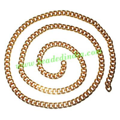 Gold Plated Metal Chain, size: 1x6mm, approx 14.9 meters in  - Gold Plated Metal Chain, size: 1x6mm, approx 14.9 meters in a Kg.