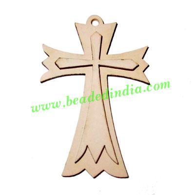 Handmade wooden cross (christian) pendants, size : 43x29x3mm - Handmade wooden cross (christian) pendants, size : 43x29x3mm