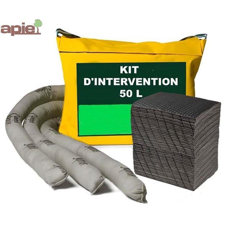 Kit d'intervention absorbant 50 L - Référence : KIT.50L/TSLIQ