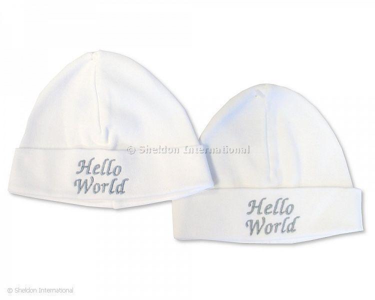 Baby Cotton Hat - Hello World - Hats