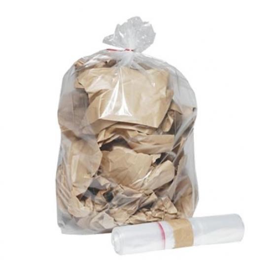 Sac poubelle transparent BD 110L 50µ rouleau de 25... - Equipement des locaux
