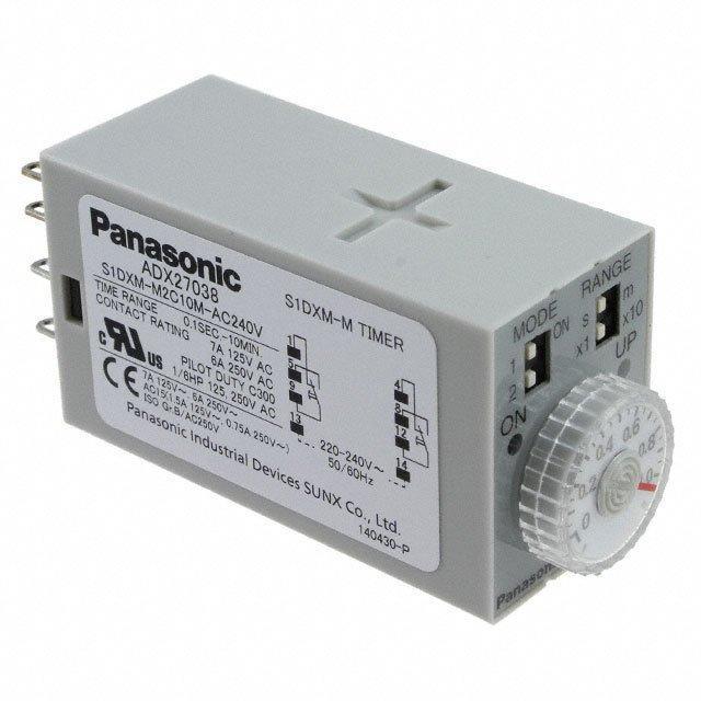 ANALOG TIMER S1DXM MULTI-RANGE - Panasonic Industrial Automation Sales S1DXM-M2C10M-AC240V