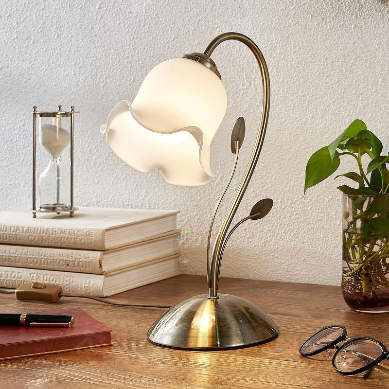 Lampe à poser Matea de forme florale - Lampes à poser style florentin