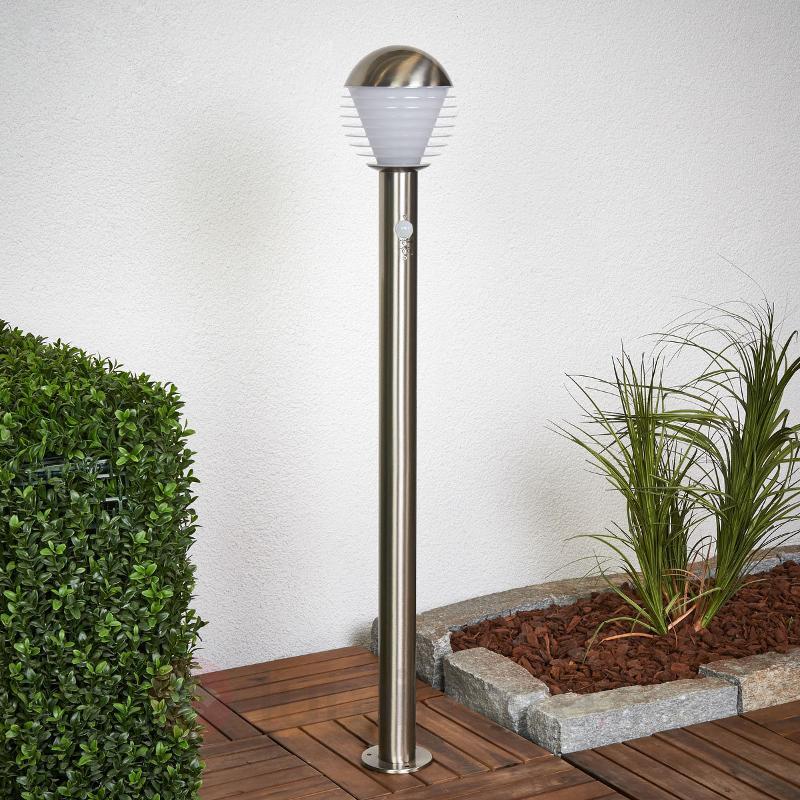 Borne lumineuse LED Ruben à détecteur de mouvement - Bornes lumineuses avec détecteur