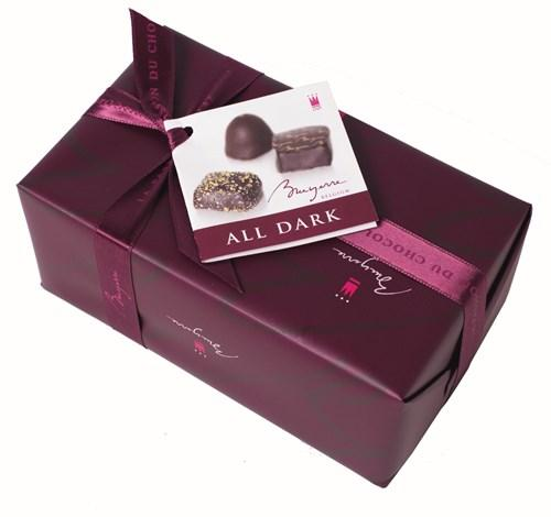 Collections of 175 gr of our best dark chocolate pralines
