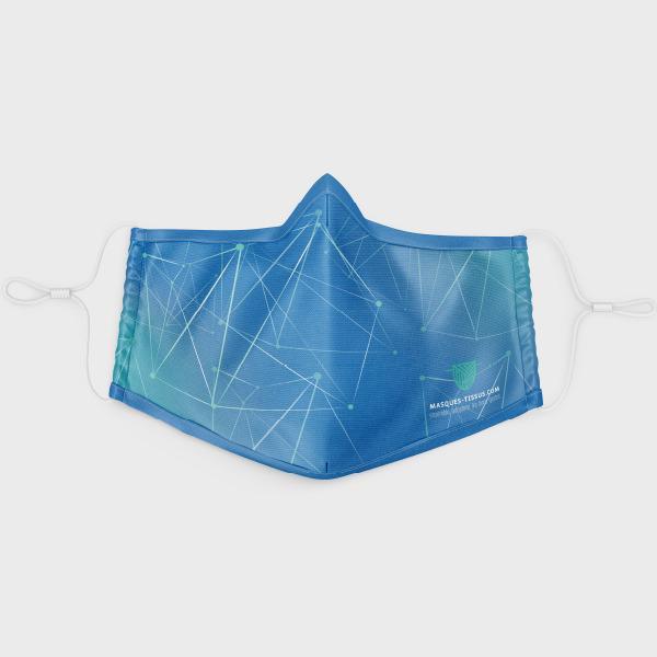 Masque personnalisé UNS1 - Masque barrière personnalisable - Lavable & Réutilisable 50 fois