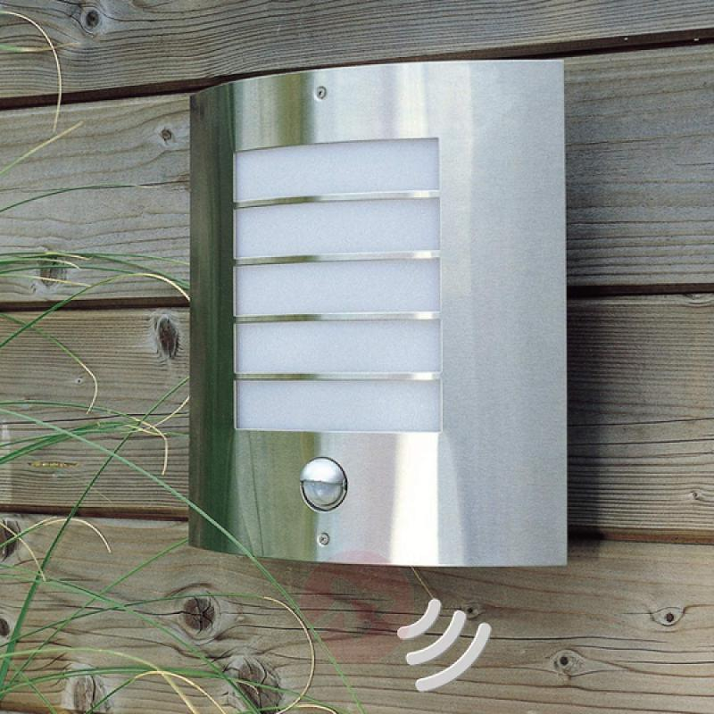 Flat IR outdoor wall lamp OSLO stainless steel - stainless-steel-outdoor-wall-lights