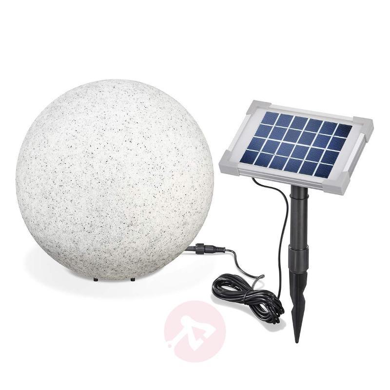 Mega Stone - contemporary LED solar globe light - Decorative Solar Lights