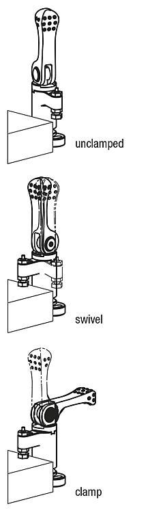 Swing clamps mini, with cam lever - Swing clamps Clamping hooks