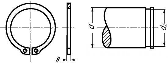 SEGMENT D'ARRÊT EXTÉRIEUR - CIRCLIPS POUR ARBRE INOX - DIN 471 (221760)