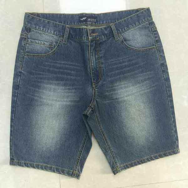 Мужские джинсовые шорты - Серебристые джинсовые брюки