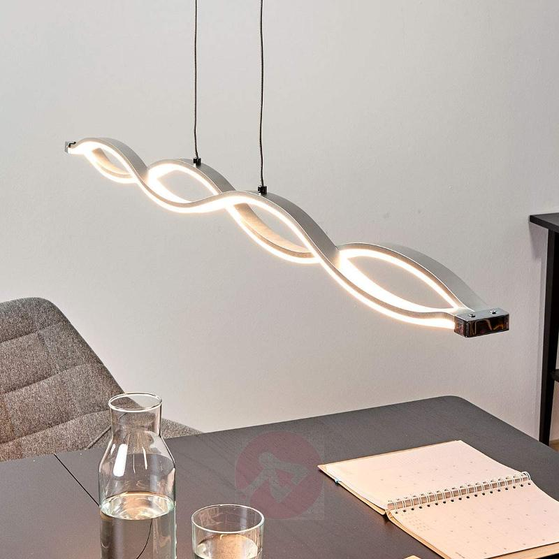 Wave-shaped Tura hanging lamp with bright LEDs - Pendant Lighting