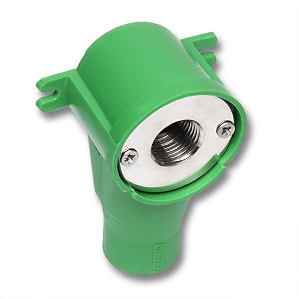 NiroSan® Wandscheibe Schallschutz, Pressanschluss - NiroSan® Wandscheibe mit Schallschutz, Pressanschluss und Innengewinde