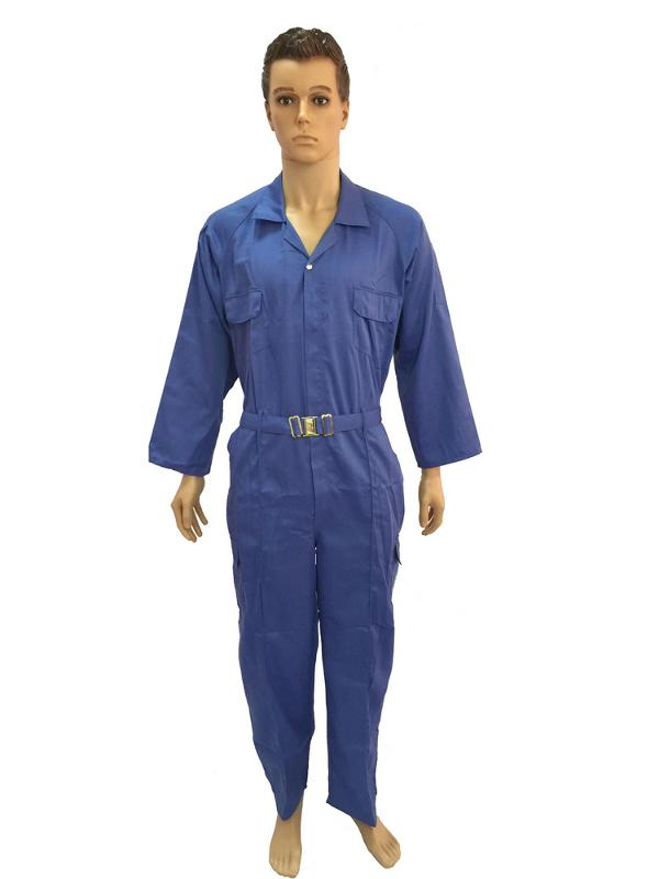 Coverall with reflective tapes - Chest pockets with plastic zipper