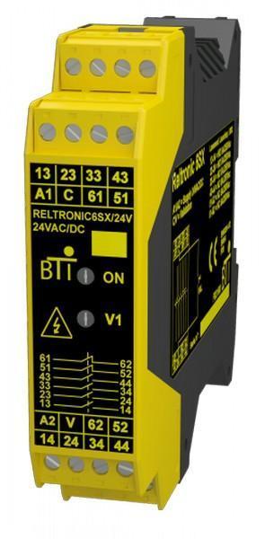 Relais/contacteur de sécurité à contact guidé de classe A EN 50205 sur rail DIN
