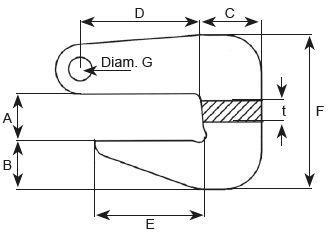 Crochets Cé - Crochets Cé pour tuyau type TRO