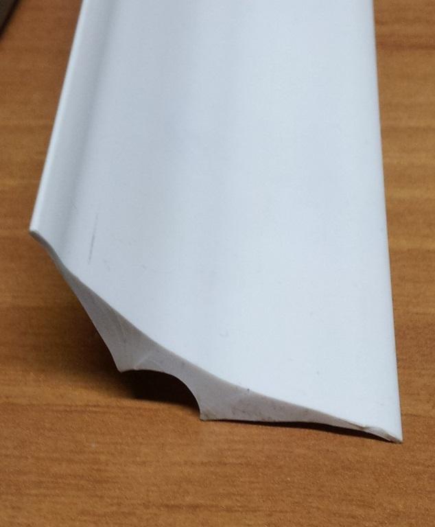 Profilo sguscia in pvc 30x30mm Bianco
