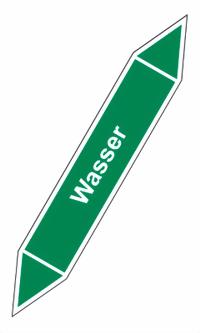 Wasser Größe 37x220 mm - Farbe: RAL 6032 RAL 6018 (alte DIN) RAL 6032 Ihr Wunschtext