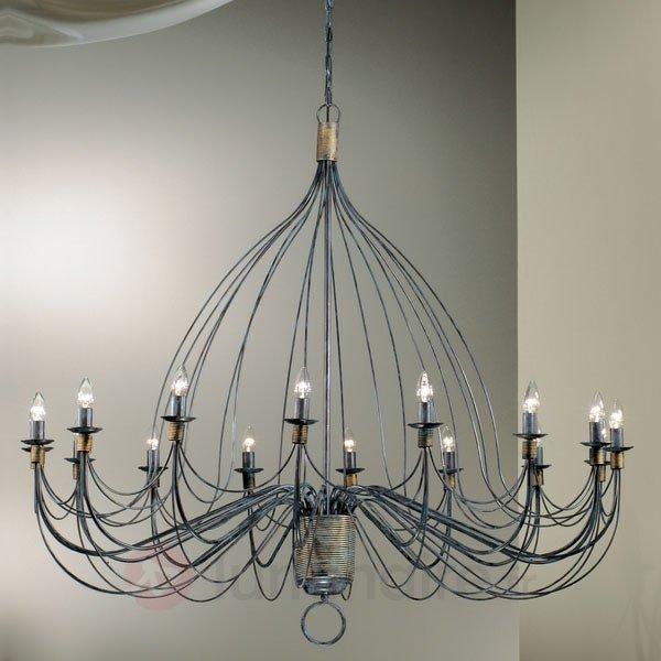 Lustre FILO à 16 ampoules, 140 cm - Lustres rustiques