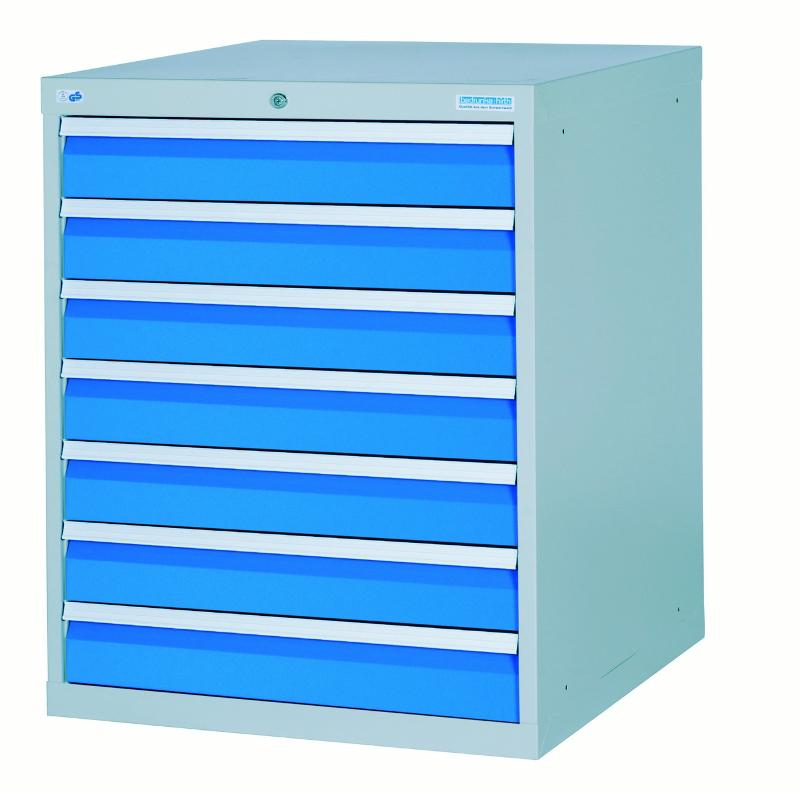 Drawer cabinet with 7 drawers, different front heights - 780/0700V10A